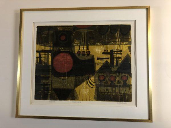 """David Weidman """"Polescape"""" Serigraph – $395"""