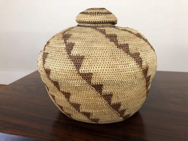 SOLD – Southwest Native American Lidded Basket