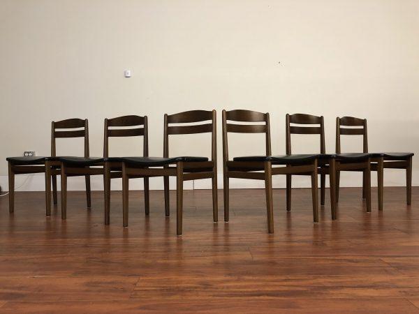 Danish Modern B & S Dining Chairs Set of 6 – $1695