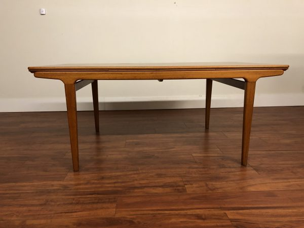 Johannes Andersen Teak Draw Leaf Dining Table – $1995