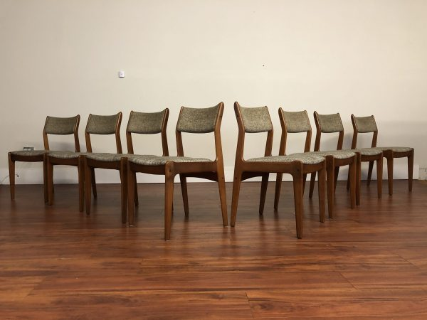 SOLD – Danish Modern Teak Dining Chairs Set of 8