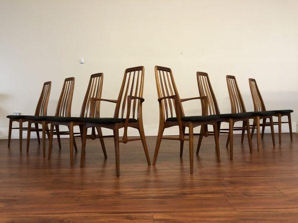 SOLD – Koefoeds Hornslet Eva Dining Chairs Set of 8