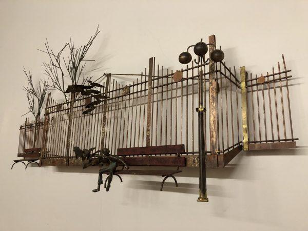 Curtis Jere Central Park Metal Wall Sculpture – $950