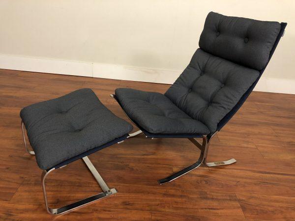 S Lund Vintage Danish Chair & Ottoman – $1495