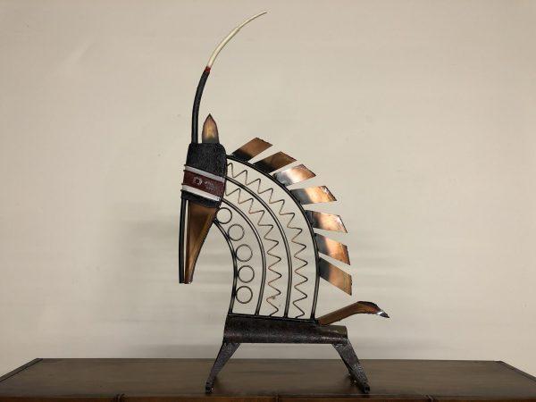 Curtis Jere Bambara Antelope Sculpture – $850