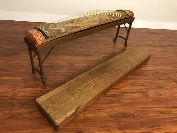 Vintage Japanese Koto With Stand & Storage Box – $950