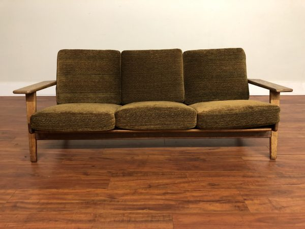 Hans Wegner Vintage Getama Oak Frame Sofa – $4495
