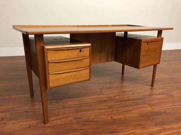 SOLD – Peter Lovig Nielsen Vintage Teak Desk