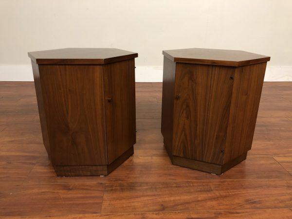 Lane Rhythm Hexagonal End Tables Pair – $650