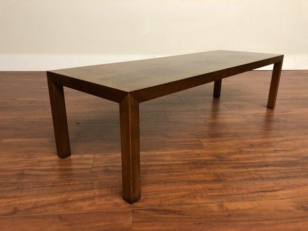 Lane Walnut Parquet Top Coffee Table – $650