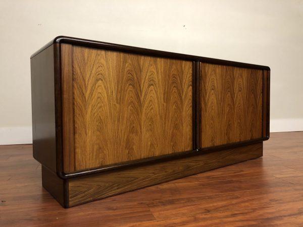 Kibaek Mobelfabrik Rosewood Tambour Sideboard – $1995