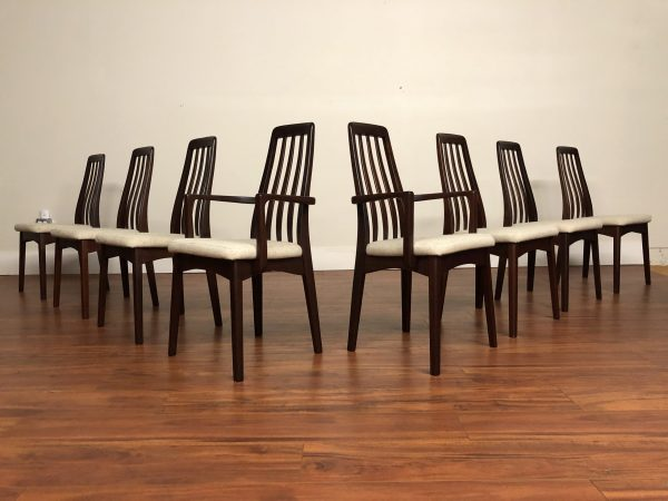 Benny Linden Slat Dining Chairs Set of 8 – $1495