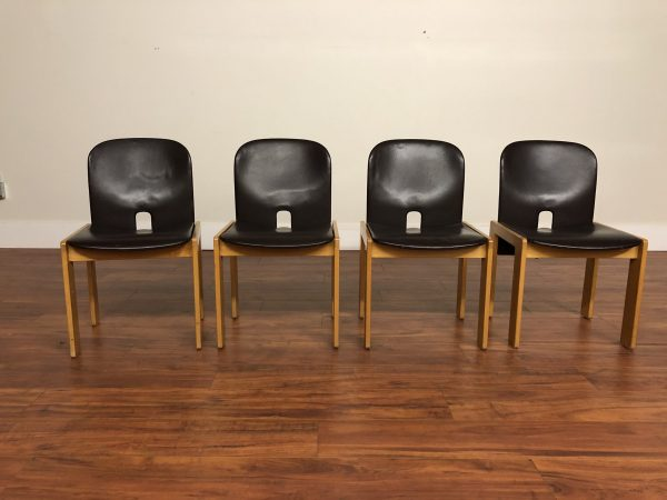 SOLD – Cassina Afra & Scarpa Dining Chairs, Set of 4