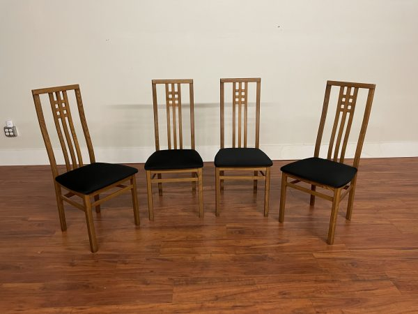 SOLD – Italian High Back Dining Chairs, Set of 4