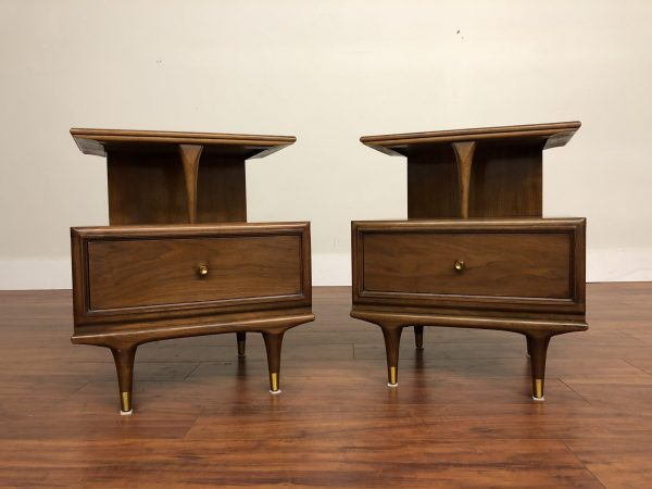"""SOLD – Kent Coffey """"The Continental"""" Nightstands Pair"""