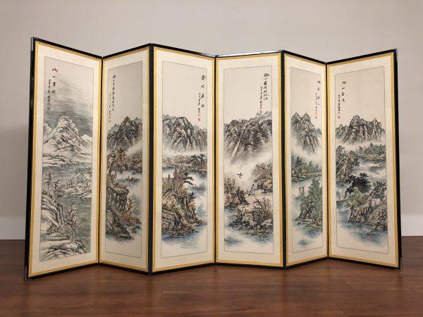 Asian 6 Panel Screen / Room Divider – $795