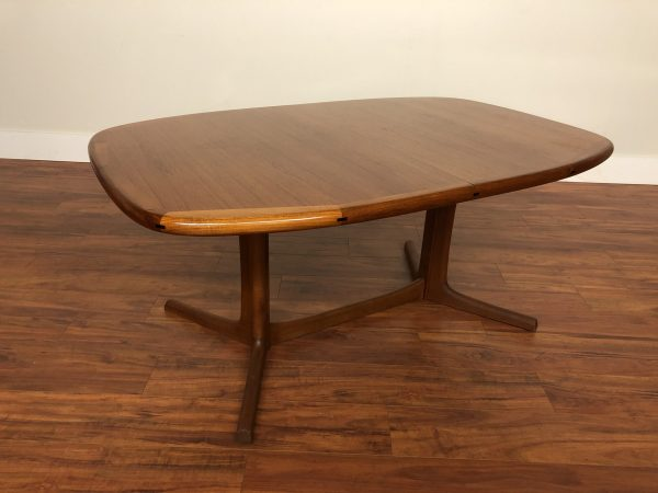 SOLD – Danish Teak Oval Expandable Dining Table