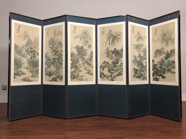 Asian Large 6 Panel Screen / Room Divider – $650