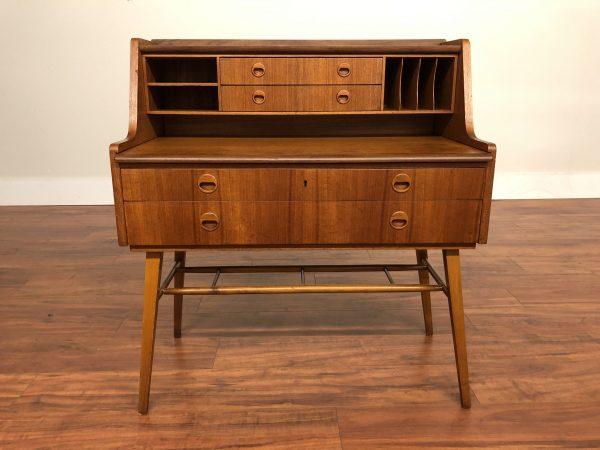 Swedish Teak Vintage Secretary Desk – $1095