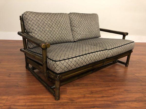McGuire Vintage Rattan Loveseat – $1750