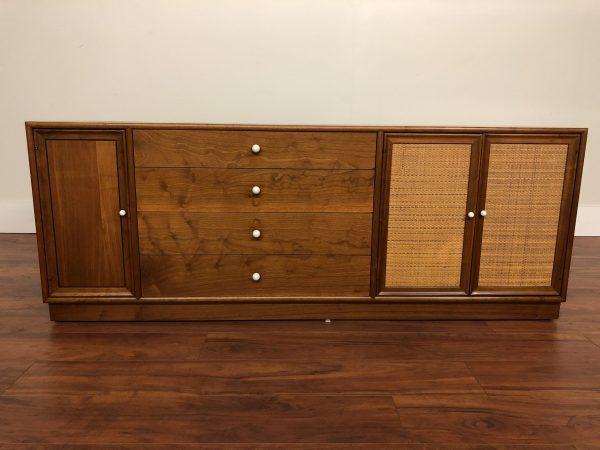 Drexel Declaration Sideboard with Cane Doors – $1895