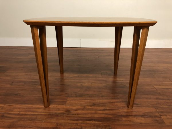 Teak Small Rounded Sides Dining Table – $795