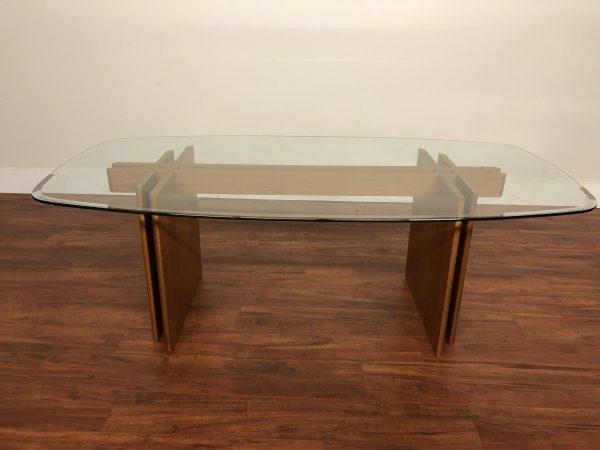 Gustav Gaarde Teak Glass Top Dining Table – $1250