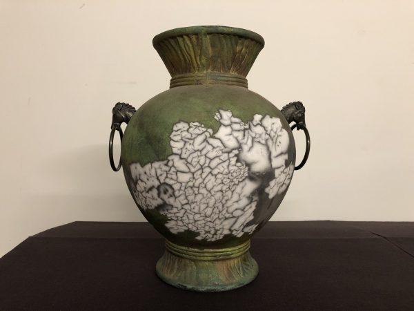 Tony Evans Raku Pottery Vessel – $595