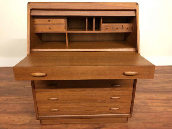 Dyrlund Danish Teak Secretary Desk / Vanity – $1595