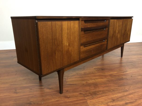 SOLD – Alfred Cox Teak Sideboard with Recessed Pulls