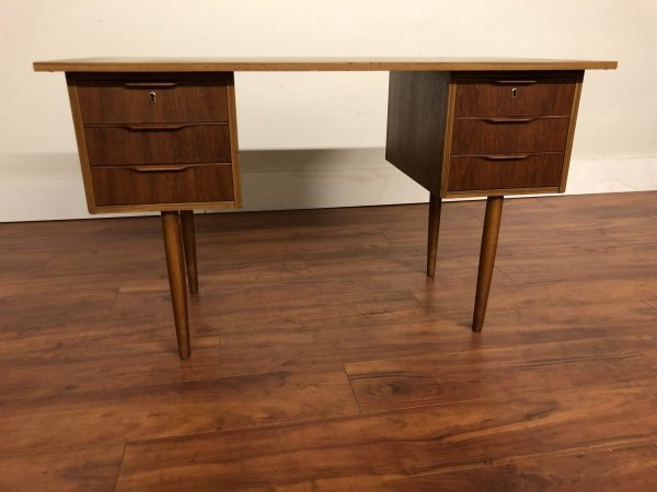 SOLD – Compact Teak Mid Century Desk