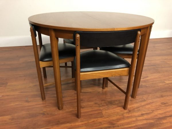 A.H. McIntosh MCM Teak Dining Table & 4 Chairs – $2995