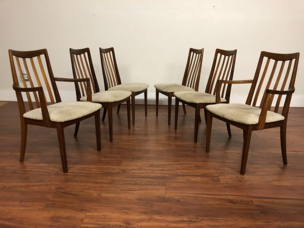 SOLD – G-Plan Set of 6 Teak & Afromosia Dining Chairs