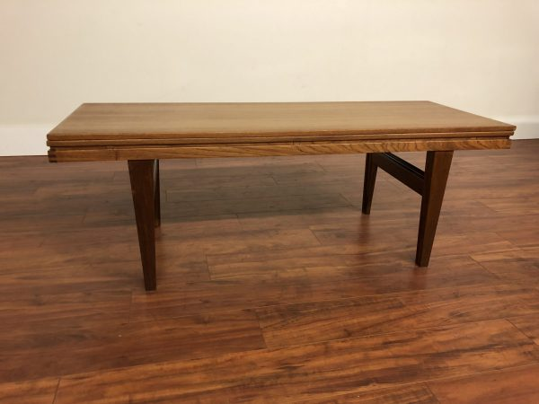 SOLD – Danish Teak Convertible Coffee / Dining Table