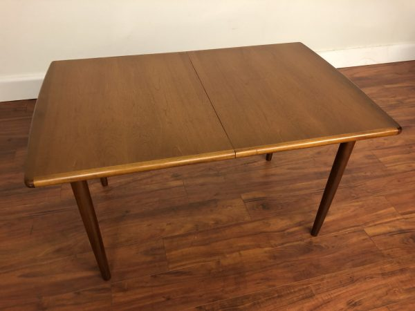 SOLD – Meredew Narrow Teak Butterfly Leaf Dining Table