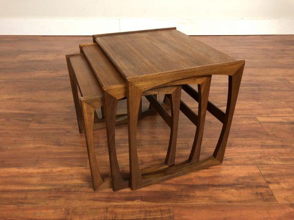 G-Plan Quadrille Teak Nesting Table Set – $550