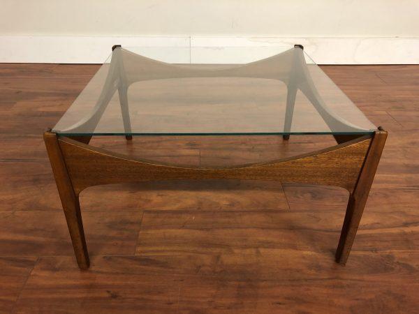 McIntosh Square Teak Glass Top Coffee Table – $550