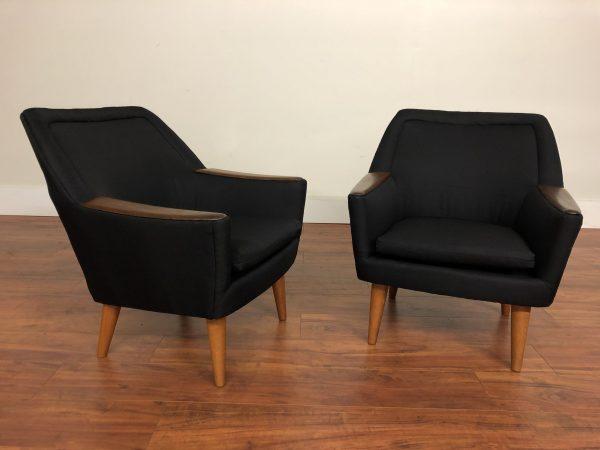Pair of Petite Vintage Lounge Chairs – $2995