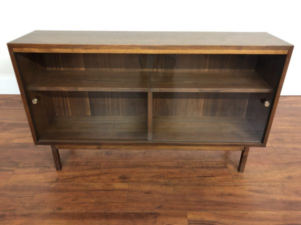 SOLD – Mid Century Walnut Low Profile Cabinet