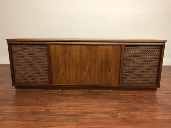 SOLD – Barzilay Design Two Walnut Stereo Console