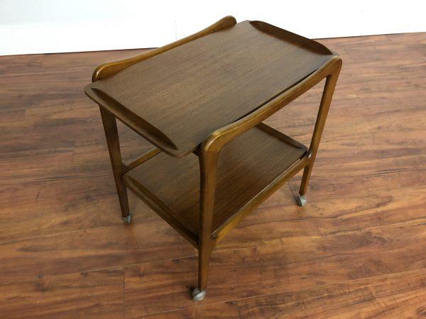 Danish Modern Teak Bar Cart / Tea Trolley – $450