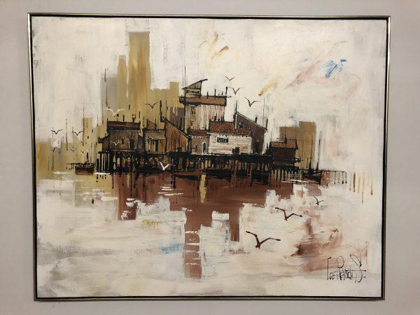 Lee Reynolds Large Mid Century Painting – $495