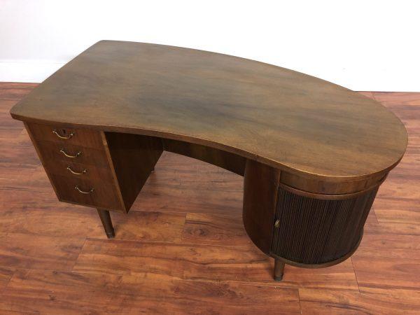Vintage Mid Century Kidney Shaped Desk – $2795