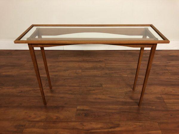 Danish Modern Teak and Glass Console Table – $550