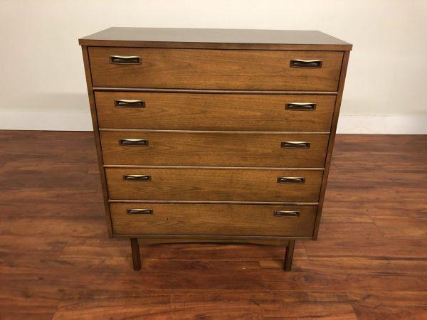SOLD – Mid Century Walnut Highboy Dresser