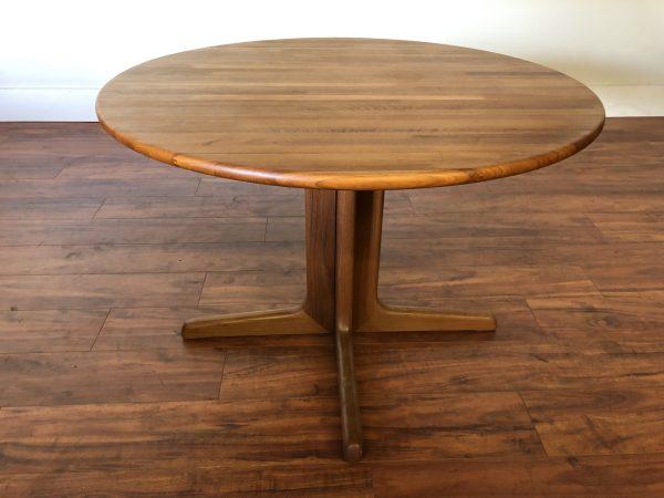 Solid Teak Pedestal Base Dining Table – $595