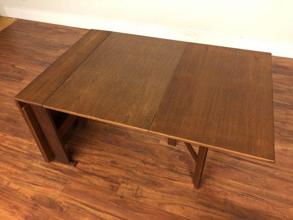 Vintage Teak Folding Dining Table – $1250