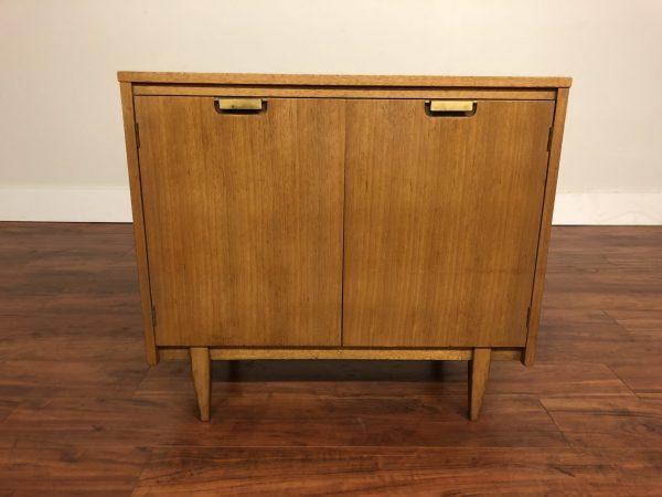 SOLD – Vintage Compact Blonde Mahogany Server Cabinet
