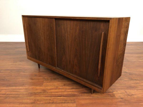 Mid Century Solid Walnut Compact Sideboard – $1095