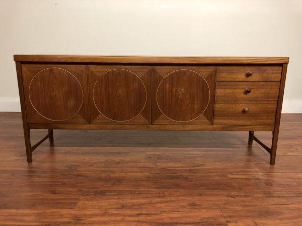 Nathan Furniture Circle Front Teak Sideboard – $1895